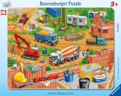Ravensburger -Work at the Construction Site - Frame Puzzle