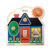 Melissa & Doug Personalised First Shapes Jumbo Knob Wooden Puzzle