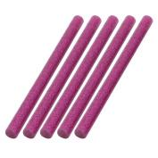 unique Bargains 5 Pcs 100mmx7mm Shinning Rose Red Hot Melt Glue Adhesive Stick for Heating Gun