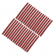 Unique Bargains 30 Pcs 100mmx7mm Shinning Red Hot Melt Glue Adhesive Stick for Heating Gun