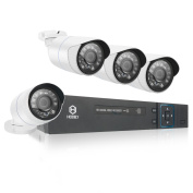Zimtown 8CH 960H HDMI AHD DVR 1300TVL IR Outdoor CCTV HD Camera Video Home Security System Without Hard Drive