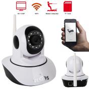 Zimtown 720P HD Wireless Wifi IP Webcam Home Security CCTV Camera Pan Tilt IR-CUT Night Vision