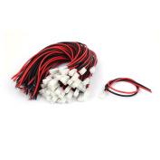 Unique Bargains VH-2P 3.96mm Pitch Female Connector poleHeader Plug Wire Line 300mm 50pcs