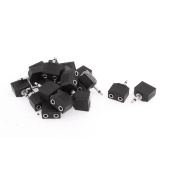 Unique Bargains 20Pcs 3.5mm Male to Dual Female Stereo Audio Plug Connector Adapter
