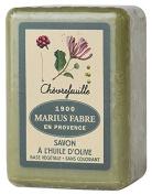 Marseille soap 250 gr Olive Oil perfumed Honeysuckle. Marius Fabre since 1900 based on Salon de Provence in France.