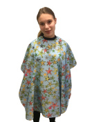 Junior Kids Childrens Unisex Hairdessing Gown Hair Cape - 'Starfish' Cartoon Print
