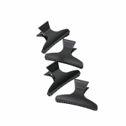 GIZZY® Set 4 Matte Black Hair Claws, Clamps.