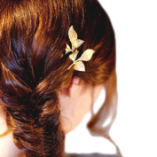 BIGBOBA 1PCS Elegant Golden Leaves Hair Clip Claw Clamps Hairhand Jewellery Hair Styling Accessories Hair Decoration