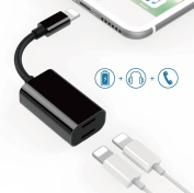 Lightning Adapter & Splitter,Dual Lightning Charge & Audio Cable for iPhone 7, iPhone 7 Plus, ipad and any Lightning device that runs iOS 10 or later