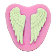 Dosige 1 Pcs Angel's Wings Liquid Silicone Mould Fondant Mould Chocolate Mould Ultralight Clay Cake Decorative Mould,Pink