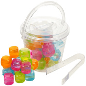 18 Reusable Ice Cubes + Bucket With Tong