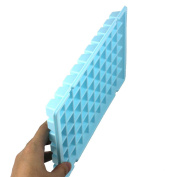 60-Compartment Rectangular Ice Cube Tray / Ice Maker Mould - Blue