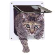 MOOST Cat Door 4-Way Locking Pet Door for Interior Doors Exterior Doors with Opening Size 17cm x 16cm for Medium Small Cats & Kid Dog