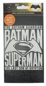 DC Comics Batman v Superman Glow In The Dark Decal