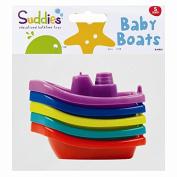Children's Kids Little Stars Baby Bath Time Boats Set Of 5 Plastic Floating Toys