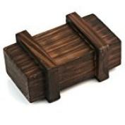 Zantec Magic Puzzle Box Wooden Secret Mini Compartment Gift Intelligence Brain Teaser