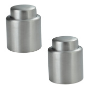 Bottle Stoppers,Restbuy Set de 2PCS Champagne Closure Polished Stainless Steel
