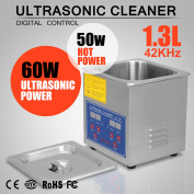 Stainless Steel 1.3L Litre Industry Heated Ultrasonic Cleaner Heater w/Timer New
