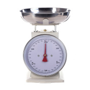 RETRO DESIGN KITCHEN SCALE | white, up to 3 kg, metal | analogue cooking scale