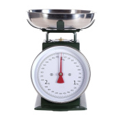RETRO DESIGN KITCHEN SCALE | green, up to 3 kg, metal | analogue cooking scale