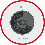 Time Timer TWIST (TT31-W) Portable Magnetic Visual Digital Timer, Start/Stop, 90 minutes, Red