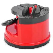 Kitchen Mini Cutter Sharpener Grinder w/ Suction Pad Cup - Red + Black