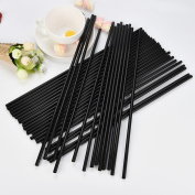 Drinking Straws 100pc Extra Long Disposable Bendable Flexible Plastic for Birthdays, Weddings, Christmas, Celebrations and Parties