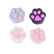 Eshylala 4 Pcs Mochi Squishies Cute Mini Soft Paw Squishy Healing Squeeze Toys Stress Relief Toy,4 Colours