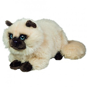 Teddy Hermann 918264 Siamese Cat Reclining Soft Toy, 36 cm