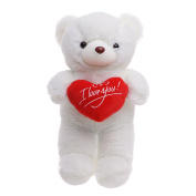 Valentine's Day Large 45cm Teddy Bear - Soft, Plush & Cuddly - ideal Romantic gift for your loved one