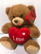 Keel Toys 25cm Brown Henry Bear with Heart