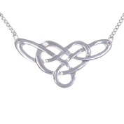 St Justin Pewter Celtic Linked Knot Necklace