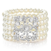 1920s Pearl Bracelet Great Gatsby Bangle Flapper Girl Accessories for Fancy Dress Costume Themed Party Wedding