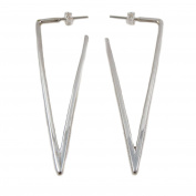 Long 925 Silver Triangular Drop Earrings
