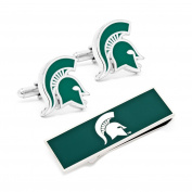 Michigan State Spartans Cufflinks and Money Clip Gift Set