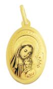 Madonna Mary Holding Baby Jesus Gold Pendant 333 8kt