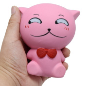 Prevently Creative Cute Jumbo Stress Stretch Cat Cream Scented Squishy Slow Rising Squeeze Strap Kids Toy Gift For Kids and Adults
