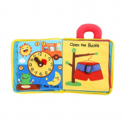 TOYMYTOY Baby First Cloth Book Intelligence Development Cloth Leaning Educational Toys for Baby Girl Boy