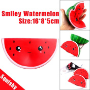 Squishy Toys Jumbo, Cute Smiley Watermelon Squishies Slow Rising Squeeze Toys Cream Scented Decompression Toys Fun Joke Gift Stress Relief Toys