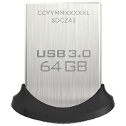 SANDISK SDCZ43-064G-A46 Ultra(R) Fit USB 3.0 Flash Drive (64GB) Accessories Electronics