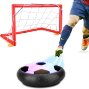 Hover Soccer Ball,Children's Amazing Hover Football, Kids Soccer Goals Set Hover Ball with 2 Gates Sports Training Indoor Outdoor Disc Games with LED Lights Educational Toys Boys Girls Gifts