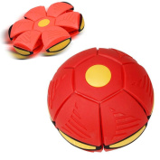 Flying UFO Flat Throw Disc Ball, Sacow UFO Deformation Soccer with 6 LED lights Flying-discs Football Flat Throw Ball Toys