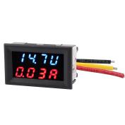 Unique Bargains DC 4-30V 0-20A Dual LED Digital Mobile Battery Tester Voltmeter Ammeter