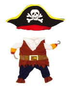TOPSUNG Cool Caribbean Pirate Pet Halloween Costume for Small to Medium Dogs / Cats