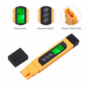 ESYNIC Digital TDS EC Metre Tester Portable Water Quality Tester Purity Metre TEMP PPM Test Pocket Pen LCD Monitor for Drinking Water Aquarium Pool