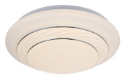 Modern LED IP44 Rated Bathroom Flush Ceiling Light with Opal Diffuser by Haysoms