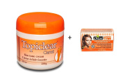 Topiclear Carrot Skin Tone Cream 284g with Chear Carrot Lite Skin Lightening Soap 150g
