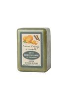 Marseille soap 250 gr Olive Oil perfumed CINNAMON AND ORANGE. Marius Fabre since 1900 based on Salon de Provence in France.