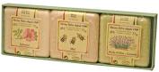 3 Savonnettes MARIUS FABRE panachées 3 x 100 g dans un étui, parfumées à la lavande, à l'églantine et au miel. Depuis 1900, la savonnerie Marius Fabre perpétue la fabrication traditionnelle du savon de Marseille, au coeur de Salon-de-Provence