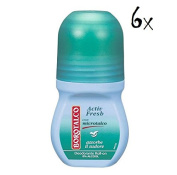 6x Borotalco Roberts Roll-On Deodorant Active Fresh 50Ml Deoroller Roll-On with Talcum